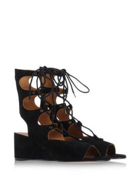 crne ravne gladijator sandale srednje duzine