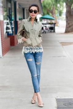 heklana bluza ispod jakne