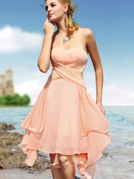 nezno roze mini haljina