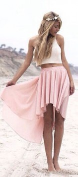 roze bela kombinacija