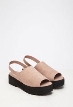roze sandale sa ravnom platformom