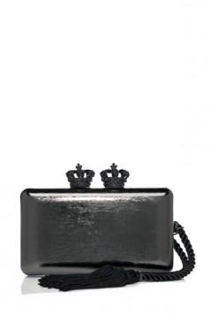 tamnija i elegantnija metalik torba