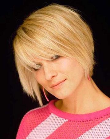 kratka frizura za ravnu kosu