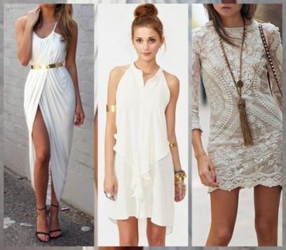 bela haljina sa dodirom zlata
