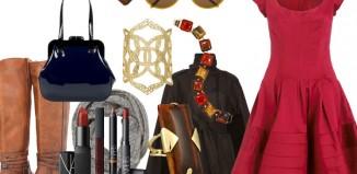 modni detalji uz crvenu haljinu