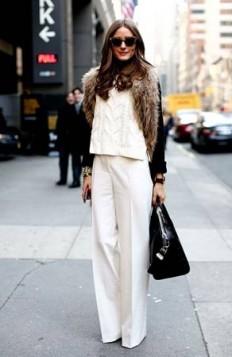 bela odeca u kombinaciji sa crnom bojom