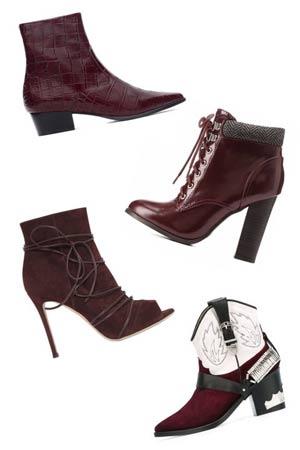 Čizme u burgundi boji