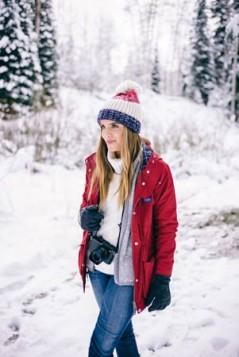 crvena zimska jakna