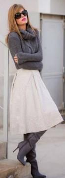 pletena rolka uz suknju i cizme
