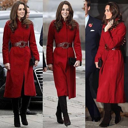 oversized crveni kaput