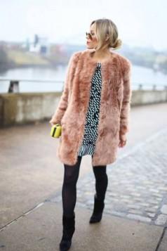 pink krzneni kaput