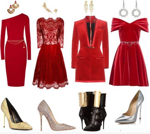 crvena haljina za docek Nove 2016. Godine