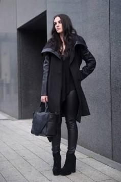 kozne pantalone i vuneni kaput
