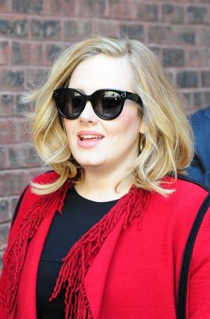 Adele lob frizura