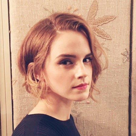 Emma Watson neuredni kratki bob