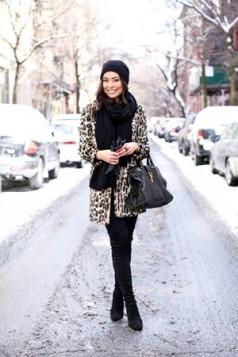 leopard print kaput i crni sal