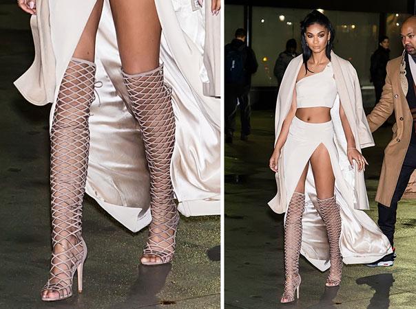 Chanel Iman gladijator cizme