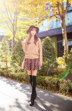 suknja sa sitnim cvetnim printom