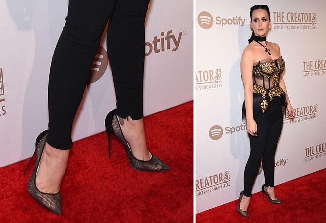 Katy Perry mrezaste cipele sa visokom potpeticom
