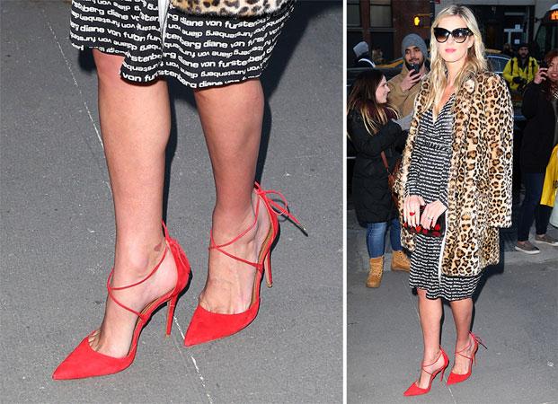 Nicky Hilton crvene cipele sa pertlama