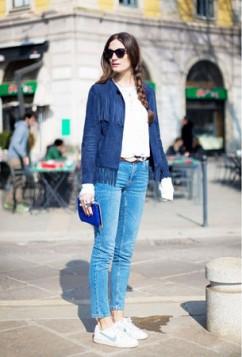 kantri stil teksas jakna sa resama