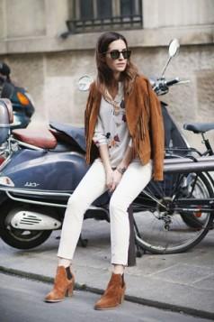 kantri stil plisana jakna sa resama