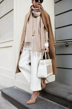kamel cipele i bela torba