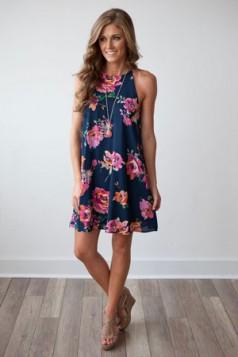 mini haljina sa cvetnim printom
