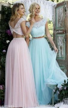 haljine iz dva dela u neznim pastelnim bojama