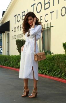 bela kosulja haljina