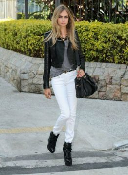 bele farmerice i kozna jakna