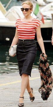 bluza sa crveno belim prugama