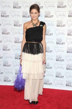 Olivia Palermo haljina sa resama i faltama
