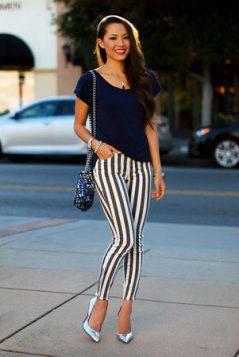 uske prugaste pantalone