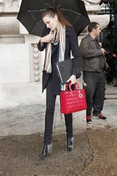Lady Dior crvena torba