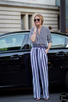 prugasta bluza i pantalone