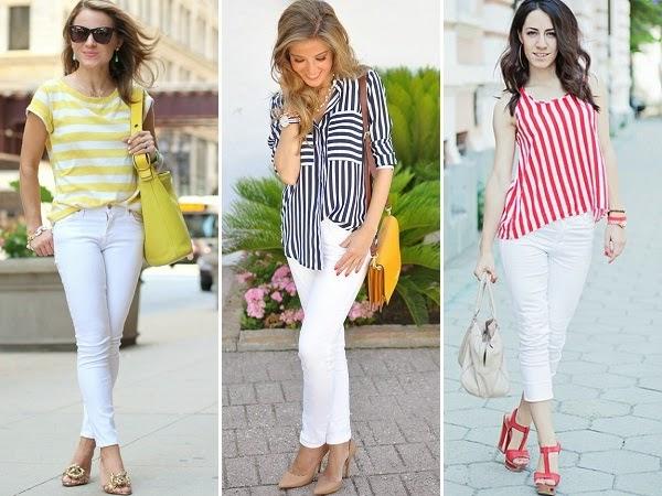 bele farmerice i prugaste bluze