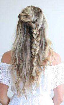 pletenica na polupodignutoj kosi