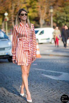kosulja haljina i sa vertikalnim i sa horizontalnim prugama
