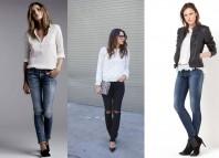 Farmerice i Bele bluze