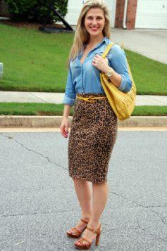 olovka suknja sa leopart printom