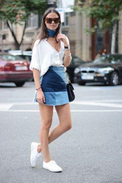 patchwork teksas suknja
