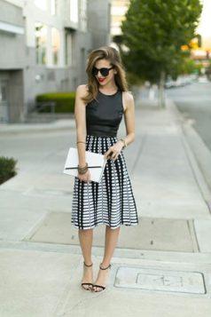A line suknja sa printom