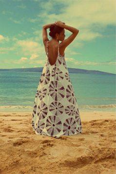 maksi haljina sa geometrijskim retro printom