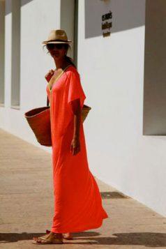 maksi haljina u narandzastoj boji