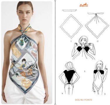 kako da napravite halter bluzu od marame