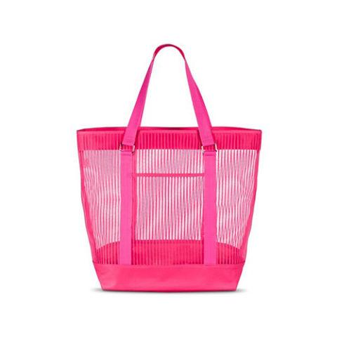 roze prugasta torba