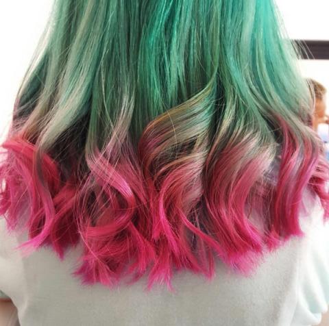 kosa u boji lubenice