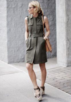 safari inspirisana militari haljina