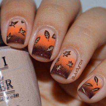 nokti jesenjih motiva i boja